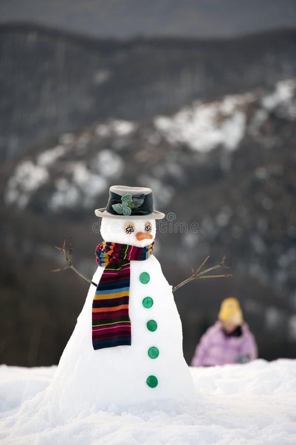 Uomo felice della neve immagine stock libera da diritti