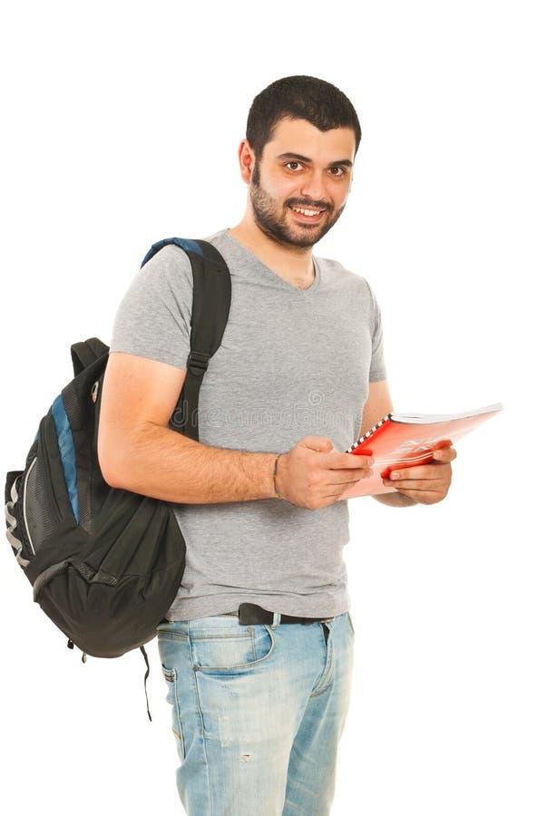 Uomo felice dello studente fotografie stock libere da diritti