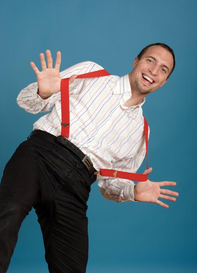 Uomo felice di affari immagini stock
