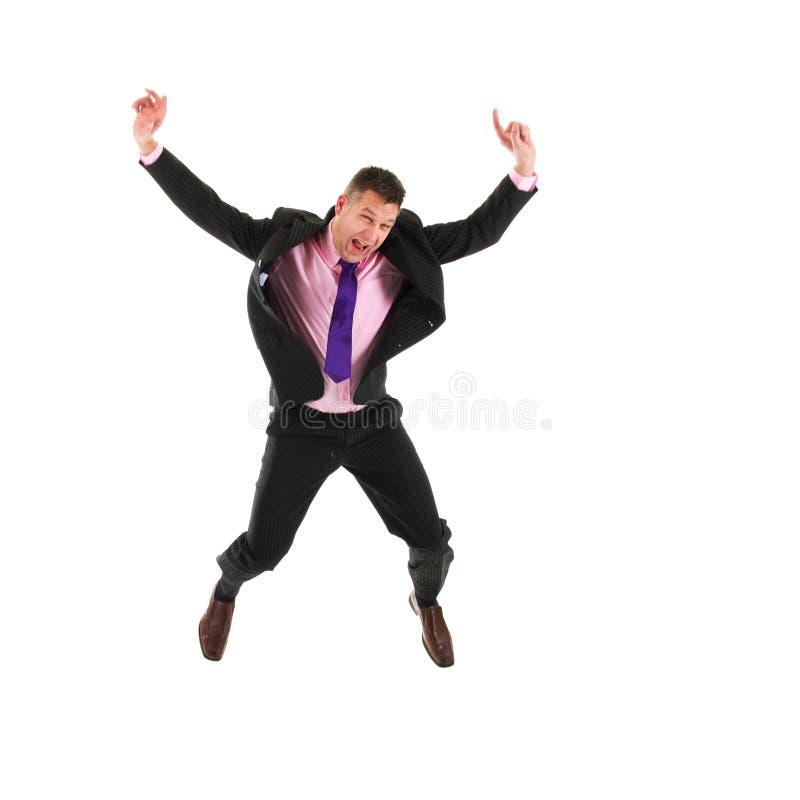 Uomo felice di affari immagine stock
