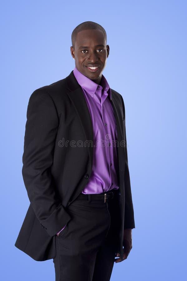 Uomo felice di affari dell'afroamericano immagine stock libera da diritti