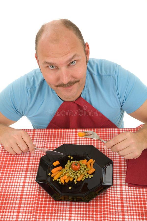 Uomo felice su una dieta fotografia stock
