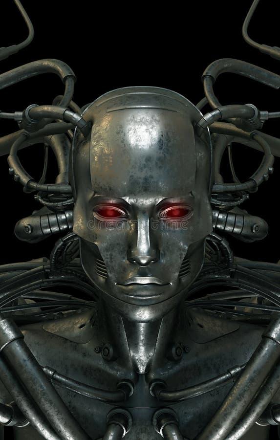 Uomo freddo dell'acciaio di cyber royalty illustrazione gratis