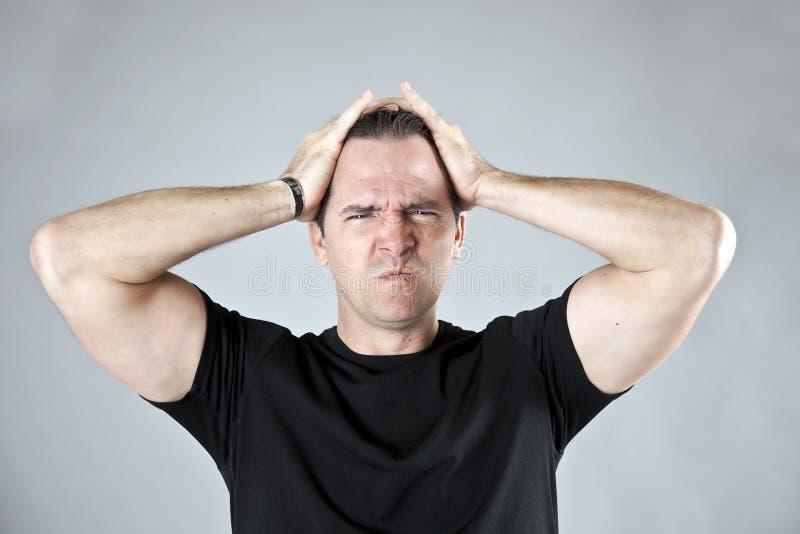 Uomo frustrato fotografie stock