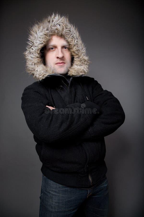 Uomo gelido immagini stock