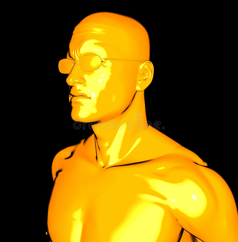 Uomo giallo royalty illustrazione gratis