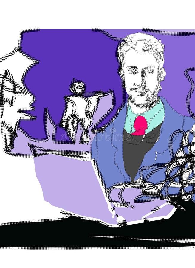 Uomo grafico di affari illustrazione vettoriale