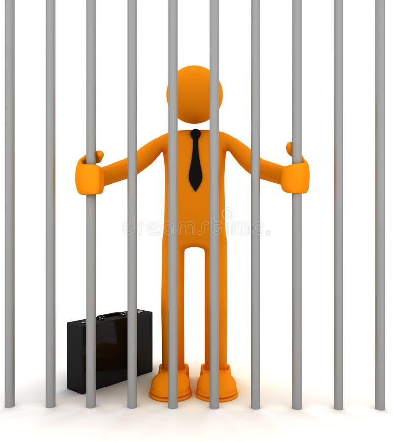 Uomo imprigionato in cella royalty illustrazione gratis