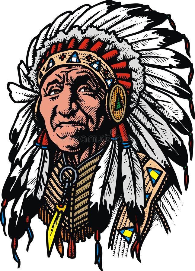 Uomo indiano anziano illustrazione di stock