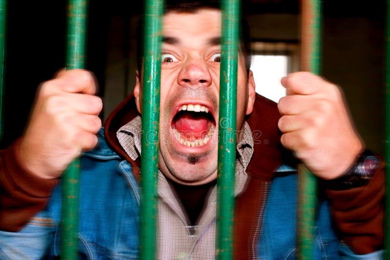 Uomo Insano Fotografie Stock Libere da Diritti
