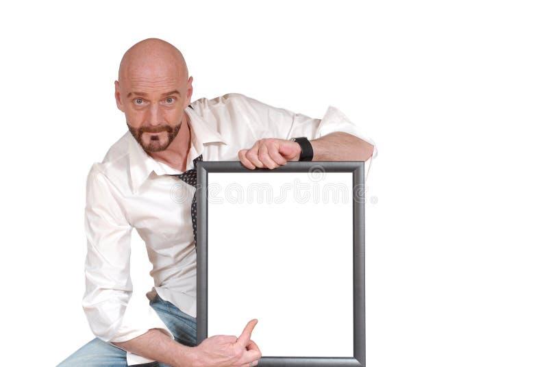 Uomo invecchiato centrale attraente fotografie stock libere da diritti