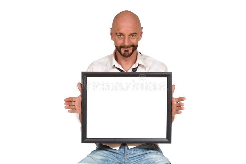 Uomo invecchiato centrale attraente fotografia stock libera da diritti