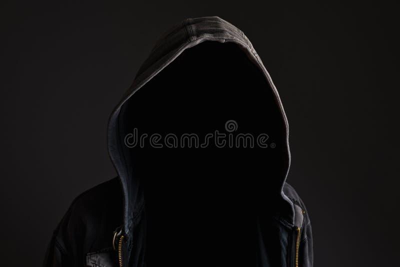 Uomo irriconoscibile anonimo senza identità immagini stock libere da diritti