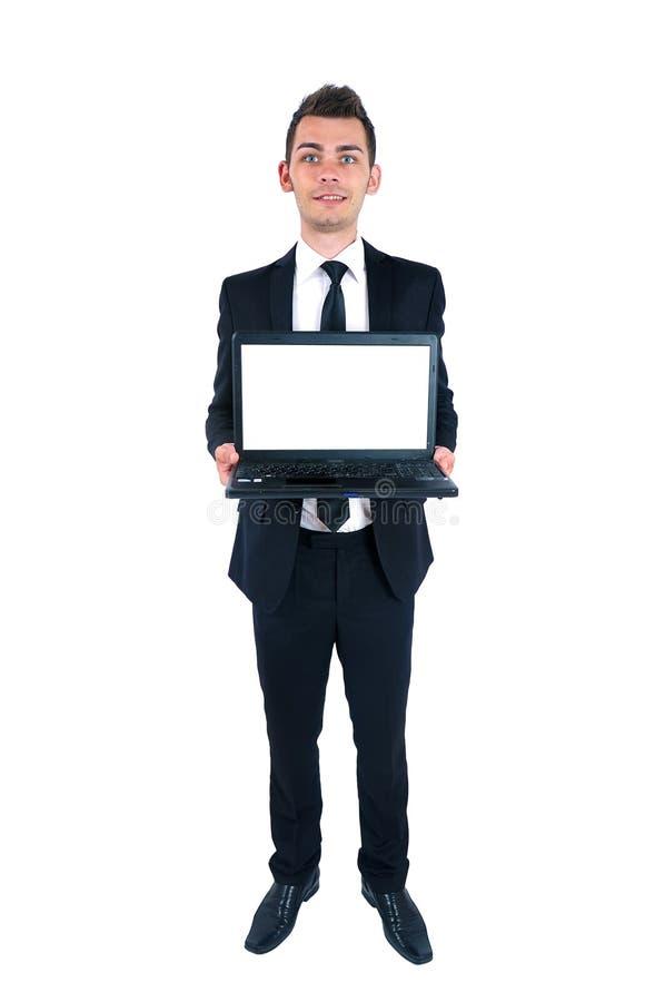 Uomo isolato di affari fotografia stock