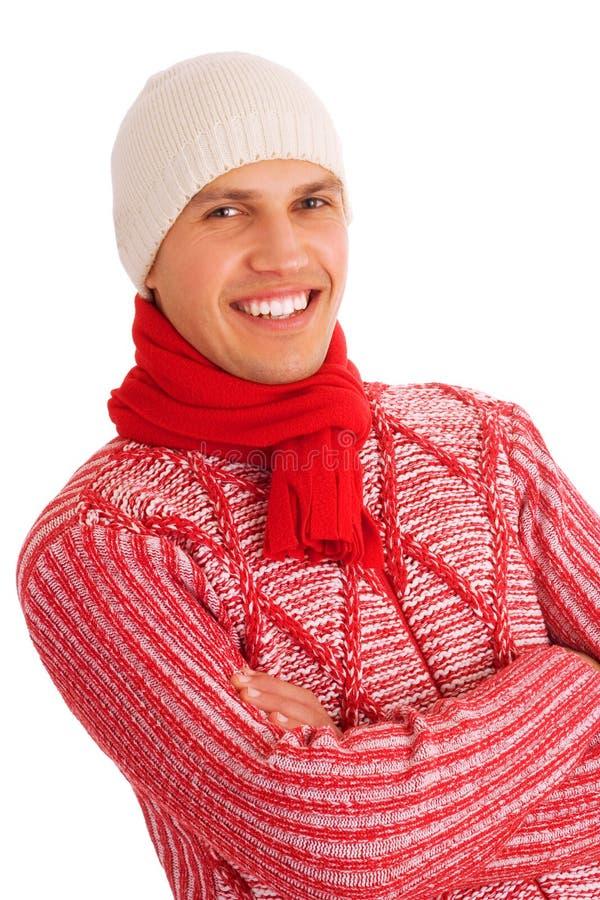 Uomo isolato di inverno fotografia stock libera da diritti