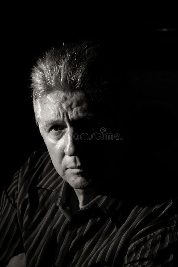 Uomo lunatico fotografia stock