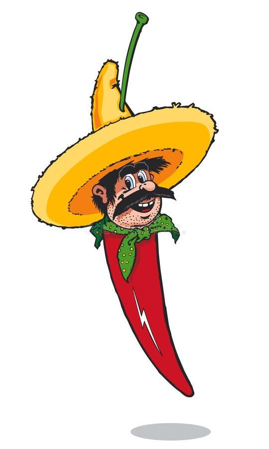 Uomo messicano del pepe di peperoncini rossi immagini stock libere da diritti