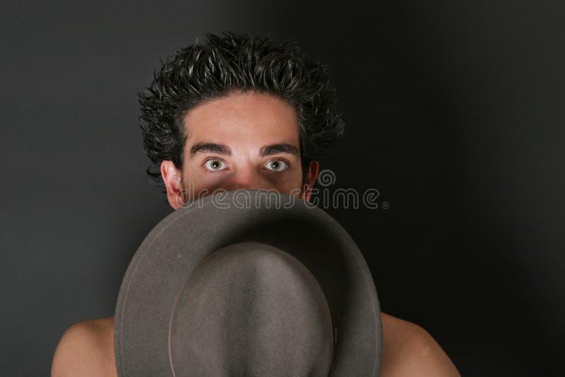 Uomo misterioso fotografie stock