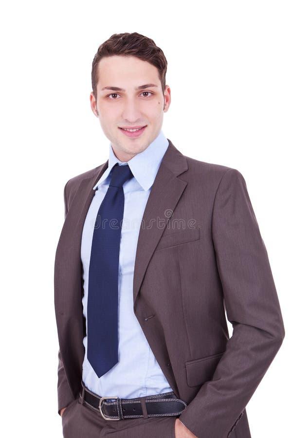 Uomo moderno sicuro di affari fotografia stock