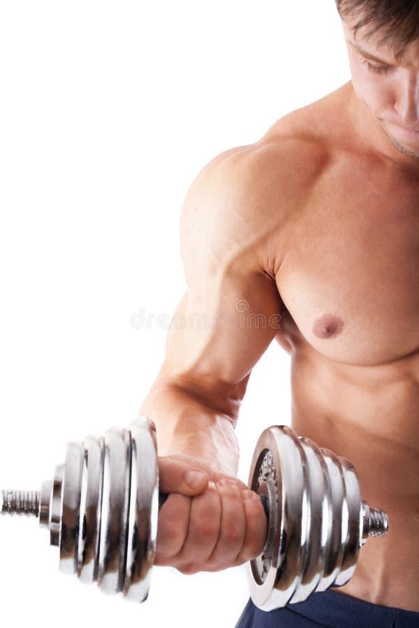 Uomo muscolare potente immagine stock libera da diritti