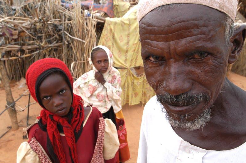 Uomo musulmano nell'accampamento del Darfur fotografia stock libera da diritti