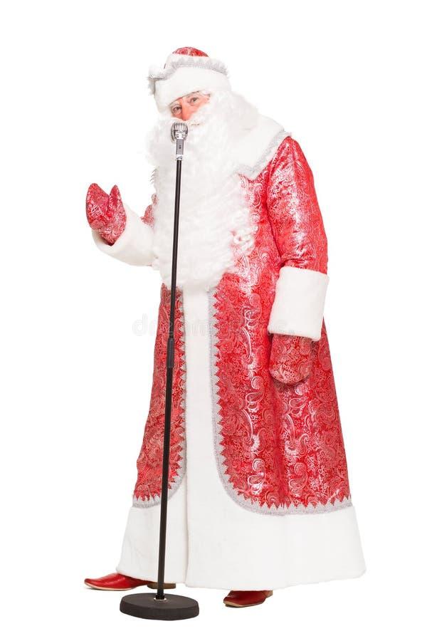 Uomo nel vestito di Santa Claus fotografia stock
