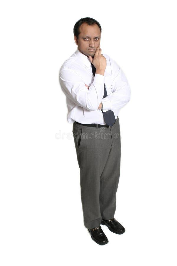 Uomo nella condizione bianca fotografia stock libera da diritti