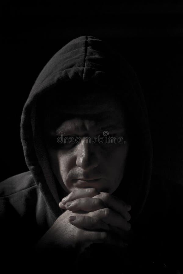 uomo in ombra immagine stock libera da diritti