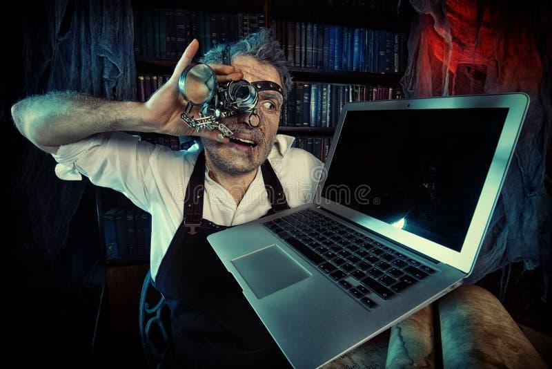 Uomo pazzesco immagini stock libere da diritti