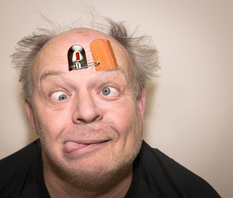 Uomo pazzo del cuculo fotografie stock