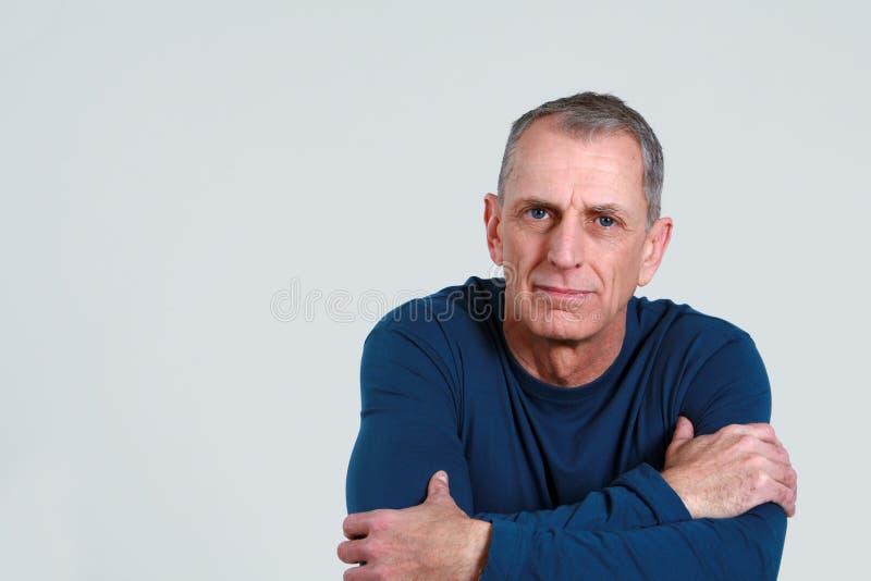 Uomo più anziano serio immagine stock libera da diritti