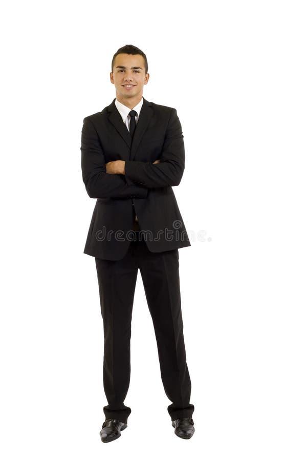 Uomo pieno di affari del corpo fotografia stock