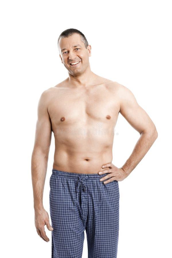 Uomo in pigiami immagini stock libere da diritti