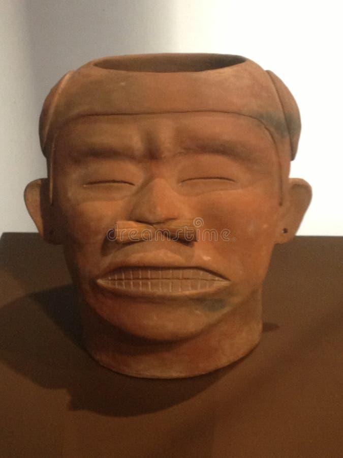 Uomo precolombiano antico immagine stock