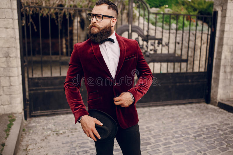 Uomo ricco immagine stock