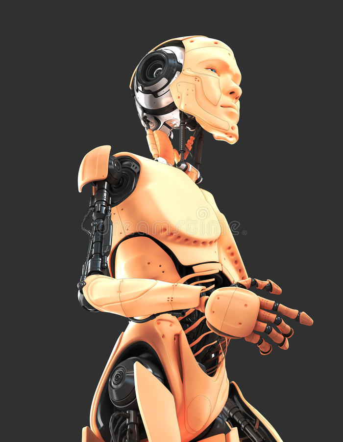 Uomo robot freddo illustrazione di stock