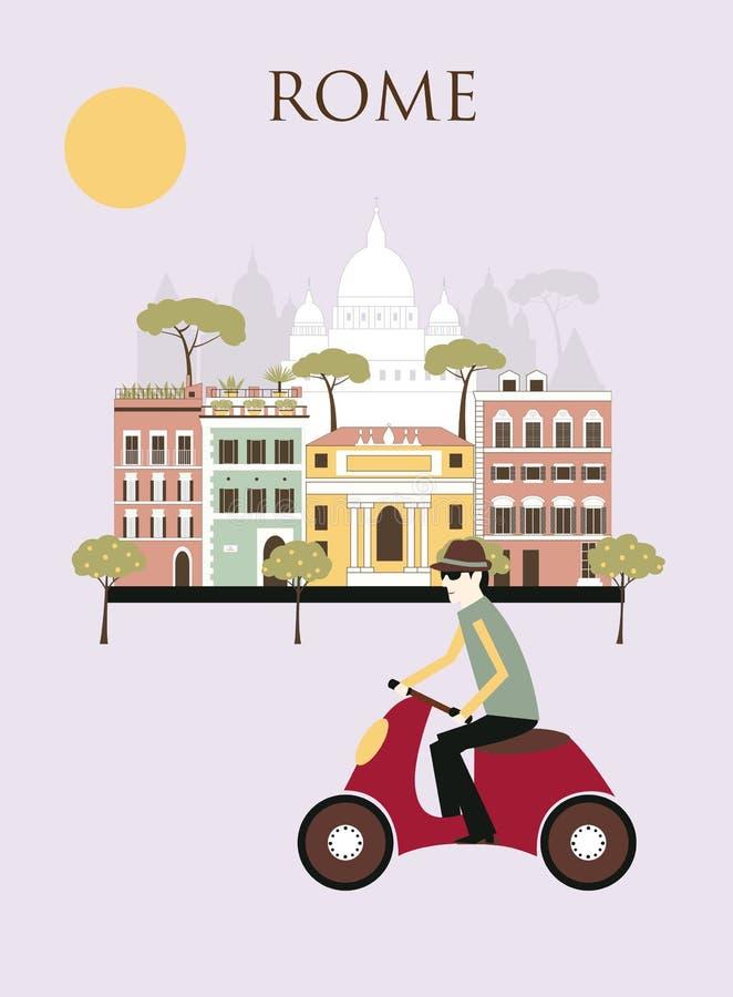 Uomo a Roma royalty illustrazione gratis