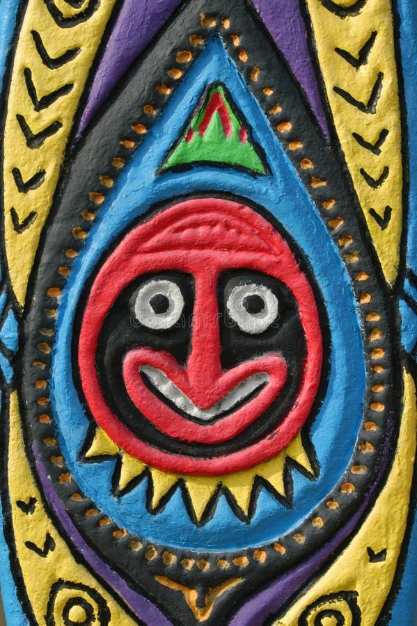 Uomo rotondo di Tiki immagine stock libera da diritti