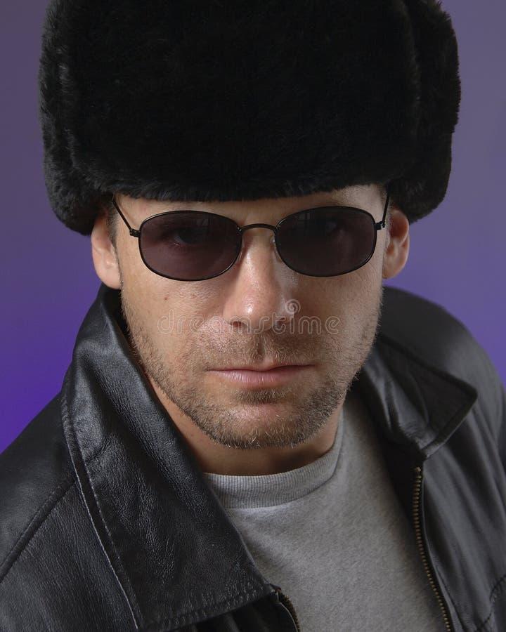 Uomo russo con Ushanka fotografie stock