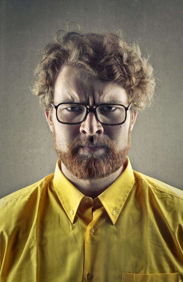 Uomo scontroso fotografie stock