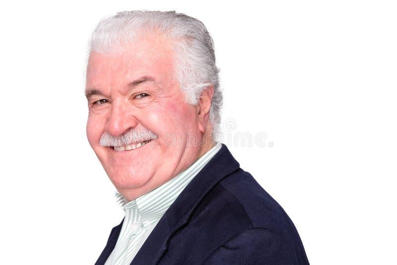 Uomo senior attraente felice carismatico immagini stock