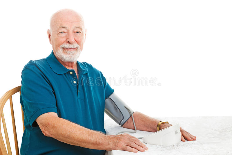 Monitoraggio domestico di pressione sanguigna fotografia stock libera da diritti