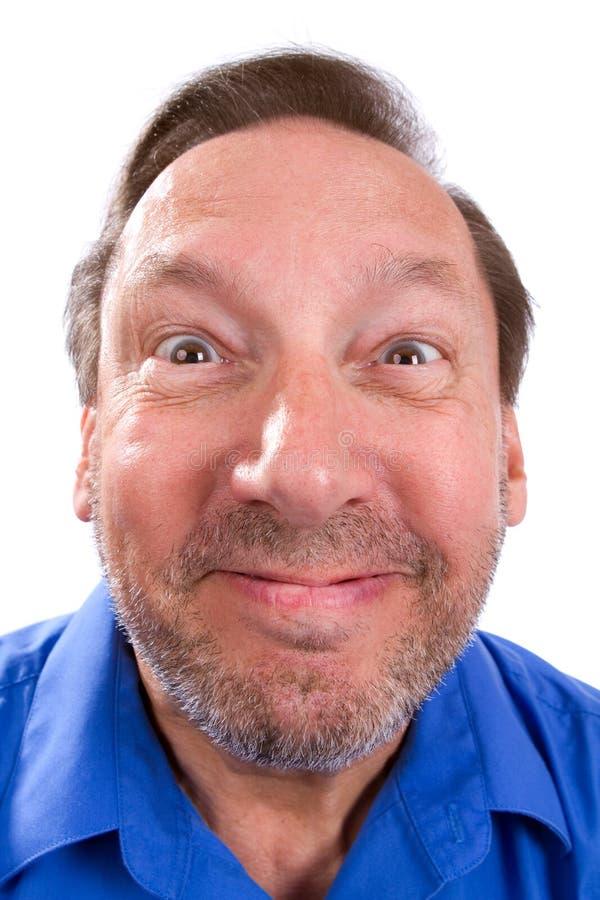 Uomo senior divertente sciocco fotografie stock libere da diritti