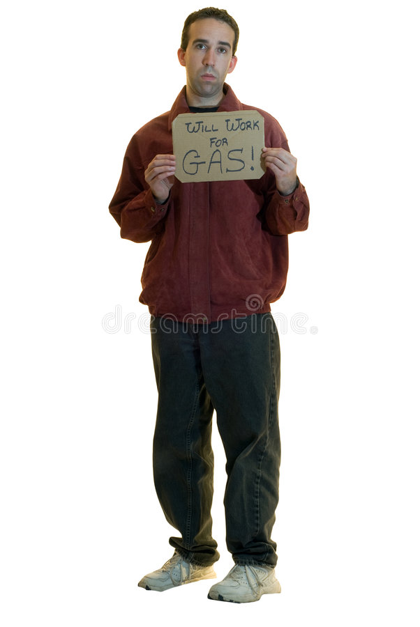Uomo senza lavoro fotografia stock