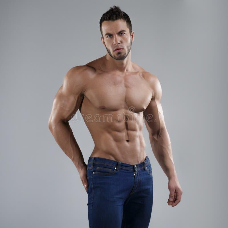 Uomo sexy in studio fotografia stock libera da diritti