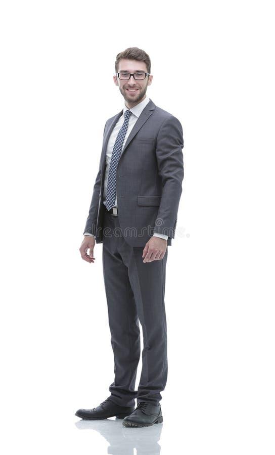 Uomo sicuro sorridente di affari E immagine stock