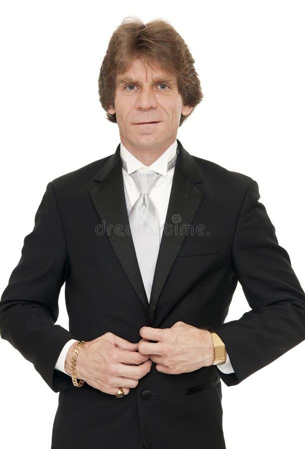 Uomo in smoking fotografie stock libere da diritti