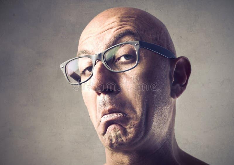 Uomo Snobbish immagini stock libere da diritti