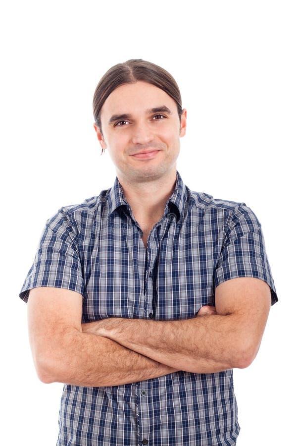 Uomo sorridente piacevole di affari immagini stock