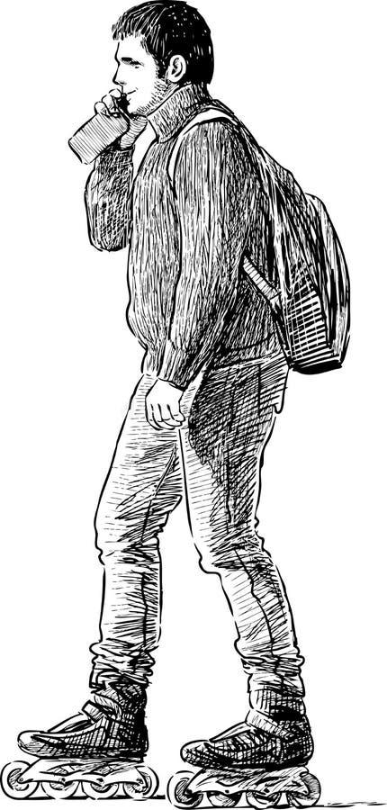 Download Uomo sui pattini di rullo fotografia stock. Immagine di uomo - 55362046